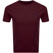 Ralph Lauren Crew Neck T Shirt Burgundy